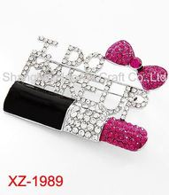 XZ-1989 Best selling different types pearl and rhinestone brooch for wholesale