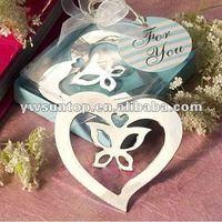 Newest heart butterfly design metal bookmark Wedding Deceraion Wholesale