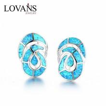 Fashion Ocean Opal Earring Blue Fire Opal Jewelry SEI004W