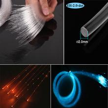 DIY 2.0mm plastic twinkle sparkle dot side emitting optic fiber lighting curtain