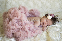 2016 Most popular newborn baby clothing hand made lovely pink baby dress