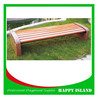 2015 hot sale marble garden Bench outdoor bench with wood slat