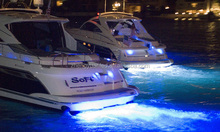 Underwater LED color options, White, Red, Ultra Blue and Green LED Boat Lighting