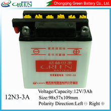 12v Dry charged rechargeable lead acid battery (12v 3ah rechargeable battery)