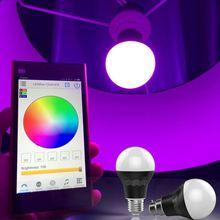 new hot selling products,Bluetooth RGBW e27 7w rgbw smart led bulb 550 lumens wi-fi control