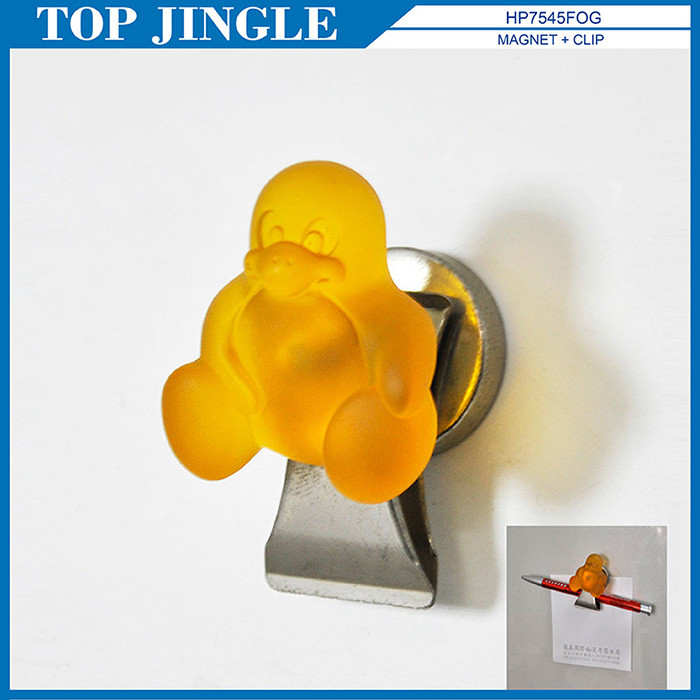 Elegante Naranja Forma pingüino Imán Clip