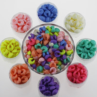 Candy color acrylic bead creative DIY beads 15 mm wafers beads jewelry findings