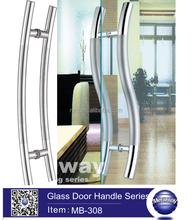 Inox Curved Glass Door Handle, Shower Room Door Bar