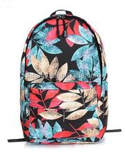 colorful fabir made children use backpack with laptop pocket inside