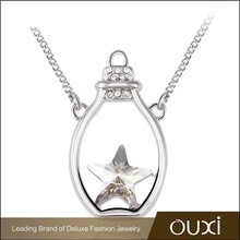 OUXI bottle charm necklaces made with Swarovski Elements 10606