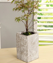 2015 new modern artificial stone flower pots for succulent plants use