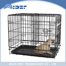 Ipet foldable metal solid pet crate kennel for dogs with ABS tray