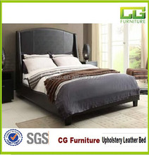 Latest Simple Design Double Size Black Faux Leather Bed From Alibaba Express Chenggang Factory