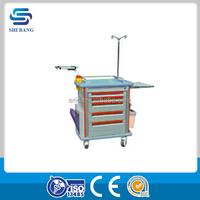 Hot!!! ABS emergency trolley equipment , multifunctional hospital emergency trolleys