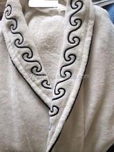 100% cotton shawl collar jacquard bathrobes for men for 5 star hotel