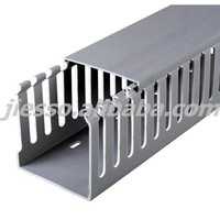 Slotted PVC Electrical Trunking Wiring Cable duct With Cover
