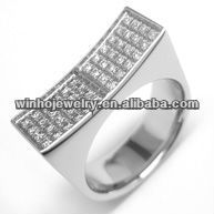 stainless steel unique design jewelry rings with stones