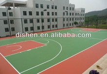 Rubber flooring for outdoor basketball & tennis courts