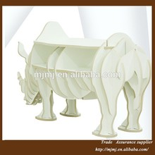 Moderno de madera decorativa animales, rhino para mesa de muebles para el hogar