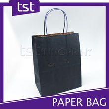 Brown Kraft Paper Bag with Blue Paper Handle