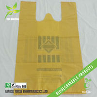 supermarket shopping bags by compostable plastic