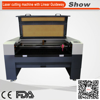 AZ-6040L linear guide rail laser cutting machine for wood acrylic gifts and grafts