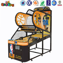 Qingfeng new design electric street basketball shoot machine for amusement park and game center