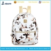 New promotion school girls simple style pu leather waterproof backpack bags