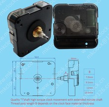 12888 YoungTown Quartz Clock Movement High Torque Ishaft Clock Movement with extended minute shaft for large clock hands