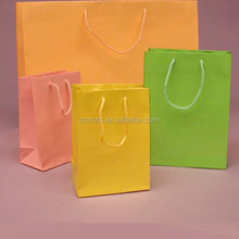hot sale shopping square bottom paper bag with handle