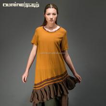 2015 Latest design women short sleeve fishtail dress western size fishtail skirts