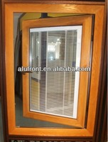 2015 new style China Built-in blinds casement window design