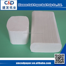 China Supplier Best Quality 100% Virgin Wood Pulp Wholesale Hotel Hand Towel