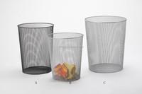 metal mesh round wastebasket/waste bin/waste container/trash can/garbage can B83180B, B83180C, B83180A