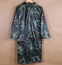Polyester camouflage noctilucent conjoined monolayer labor protection suit of waterproof conjoined adult raincoat