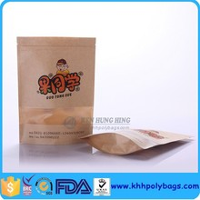 Gravure Printing Clear Window Kraft Paper Food Products Packaging