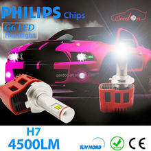 Qeedon hot high power 24w led car headlight 2400lm driving light for tractor accessories low beam vehicle withe 12v