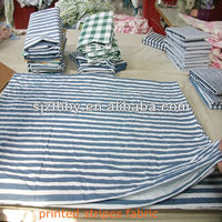 T/C 23*23 88*60 cotton blue and white striped fabric