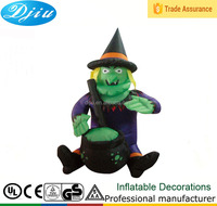 Customized inflatable halloween witch toys, Airblown Halloween Costume Toy with Hat