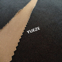 brushed polyester twill fabric weave fabric for garment