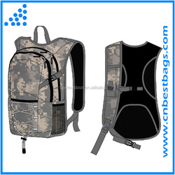 2015 waterproof military hydration backpack with water bladder