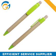 Green Retractable Recycled Paper Pen with Cheap Price