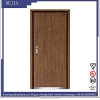 double leaf fully insulated fireproof wooden doors/wooden fire resistant door 1.5hours