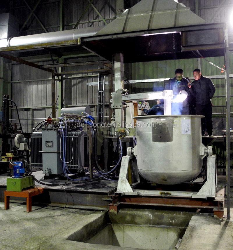 Industrial steel melting DC electric arc melting furnace