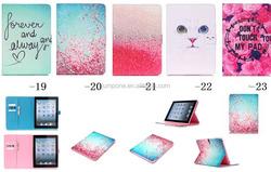 New Arrival Flower cartoon Leather Case For Apple ipad mini 1 2 3