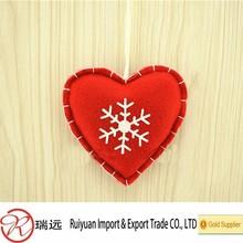 Alibaba gold supplier!!!Handmade felt heart hanging ornament for christmas tree