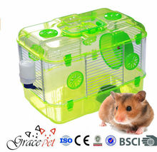 [Grace Pet] Plastic Dwarf Hamster Mice Cage with Color Accessories