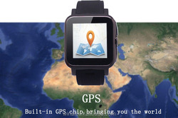 android 4.2 smart watch phone 5mp camera bluetooth 4.0 gsm mobile phone watch built-in gps tracker