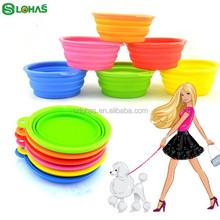 Water bowl FDA silicone personalized outdoor dog bowl