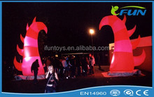 outdoor inflatable horn/inflatable LED horn/inflatable horn decoration for party